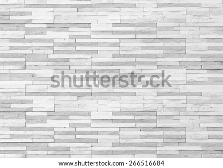 White brick tile wall texture pattern background - stock photo