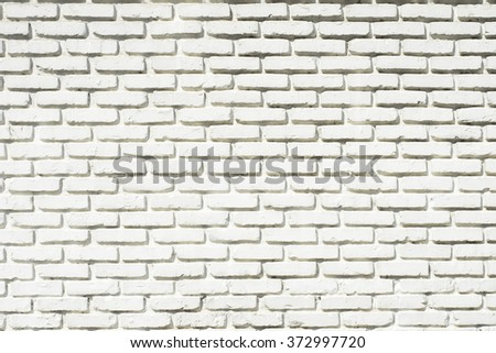 White brick wall for background - stock photo