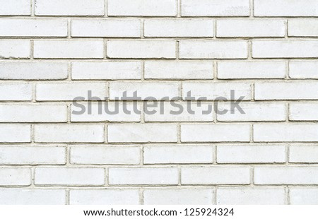 White brick wall for background usage - stock photo