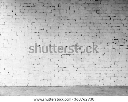 white brick wall for grungy backgrounds and writing over - stock photo