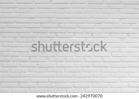 White brick wall, perfect as a background - stock photo