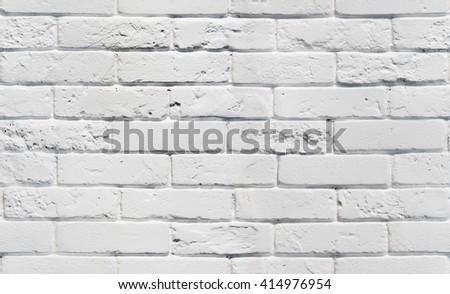 White brick wall.  Seamless background pattern. White painted brickwall texture. Seamless white background.  - stock photo
