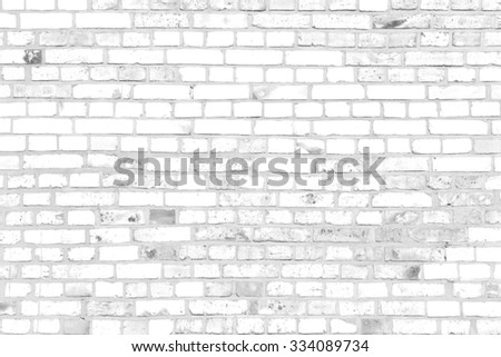 white brick wall texture grunge background, may use to interior design - stock photo