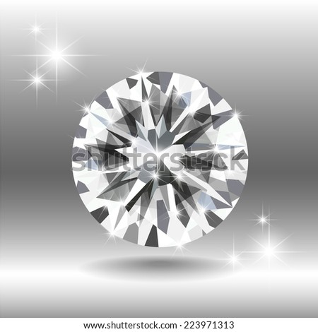 White brilliant diamond
