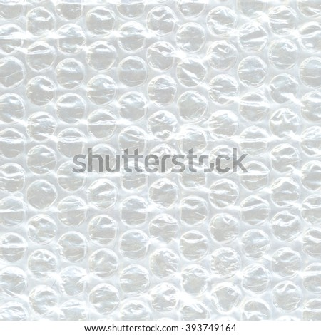 White Bubble Wrap Packing Or Air Cushion Film Abstract Horizontal Texture For Creative Art Work Background, Close Up, Top View, Copy Space - stock photo