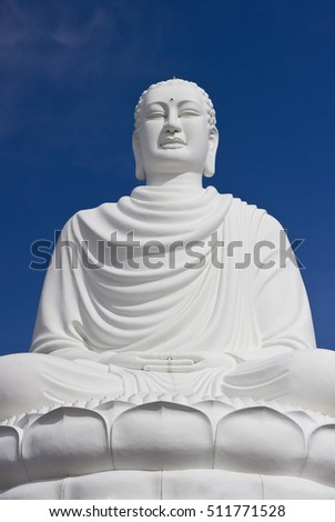 White Buddha on lotus