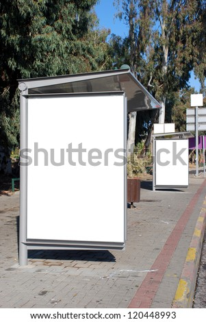 White Bus stop Sign