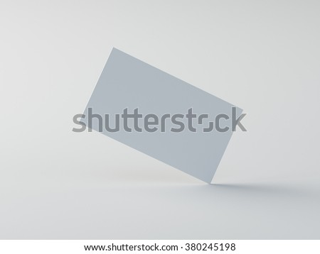 white business card mockup - stock photo