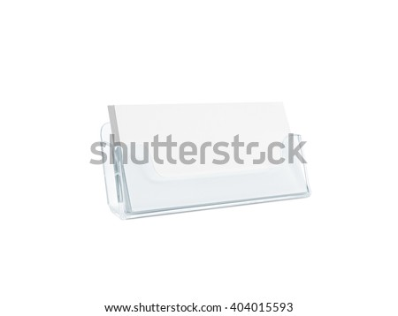 White business card mockup holder isolated stock photo royalty free white business card mockup holder isolated plastic transparent glass box name calling blank cards colourmoves