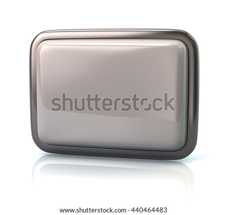 White button isolated on white background