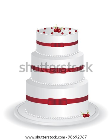 White cake illustration