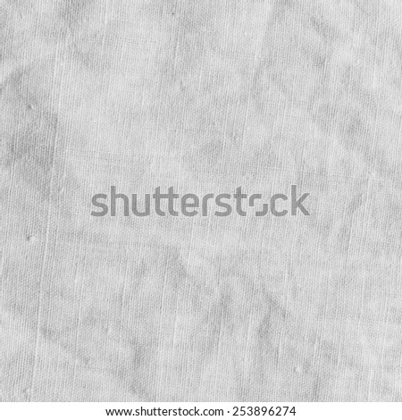 White canvas texture with delicate striped pattern. Natural cotton. - stock photo