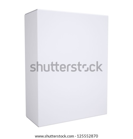 white cardboard box. Isolated render on a white background - stock photo