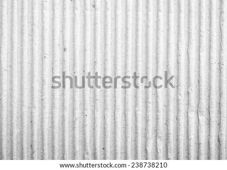 White Cardboard Texture. - stock photo