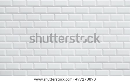 White Ceramic Brick Tile Wall Background Stock Photo (Royalty Free ...