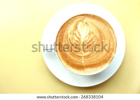 White ceramic coffee cup isolated on mastic - stock photo
