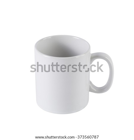 White ceramic mug isolated ,add clipping path
