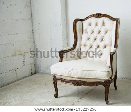 white chair - stock photo