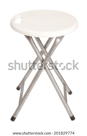 White chair against on white background.