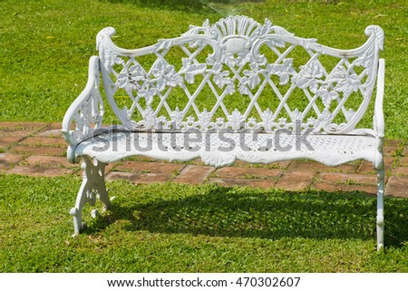 white chair garden