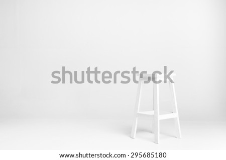 white chair with white background - stock photo