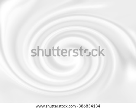 White cheese cream.  Creamy dairy product. Tasty liquid texture of milky smooth product. Snowy white mousse texture. Sweet food silky texture. Yogurt swirl abstract conceptual background. - stock photo
