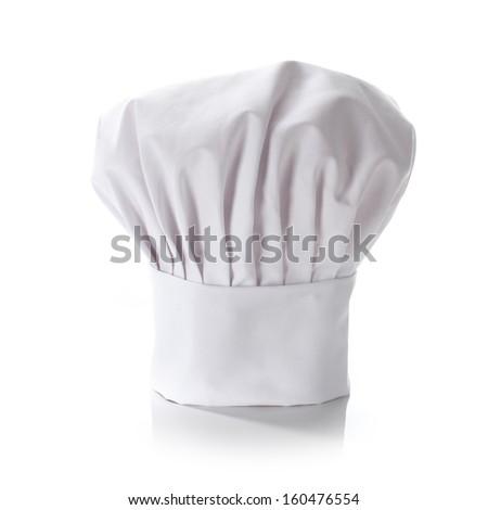 white chef hat  - stock photo