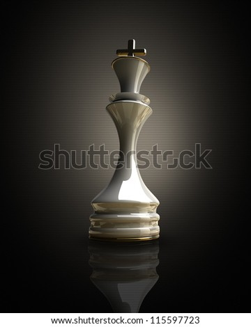 White chess king background 3d illustration. high resolution