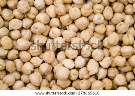 White Chickpea seed closeup Salunkwadi; Ambajogai; Beed; Maharashtra; India - stock photo