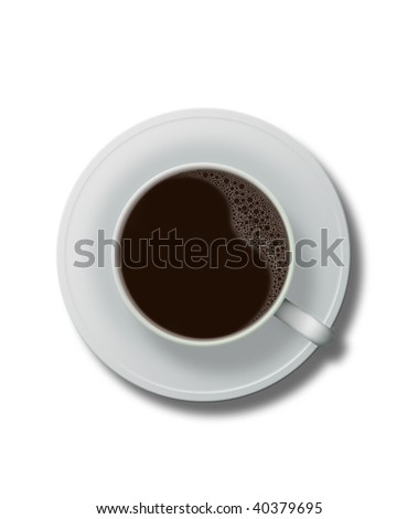 White chine coffee cup�White background�