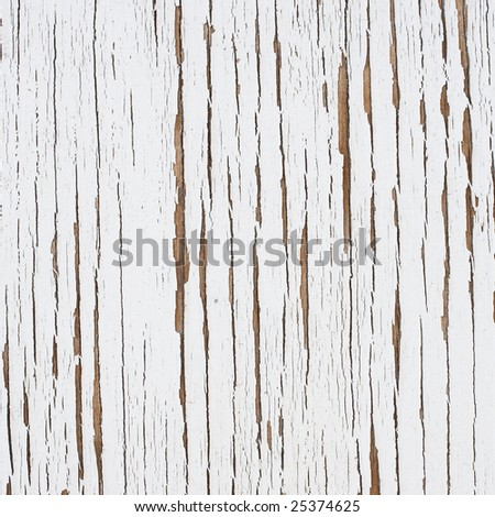 White chipped flaky paint background texture - stock photo