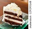 White chocolate cake - stock photo