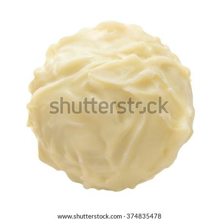 white chocolate praline - stock photo