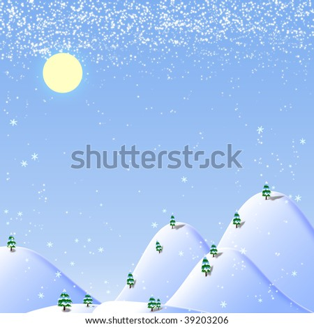 white christmas background - stock photo