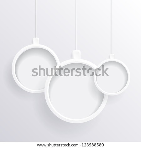 White Christmas balls - stock photo