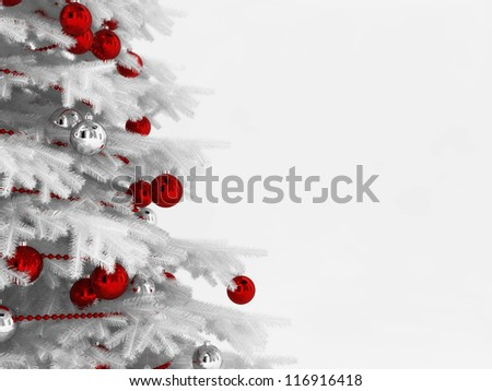 White Christmas tree - stock photo