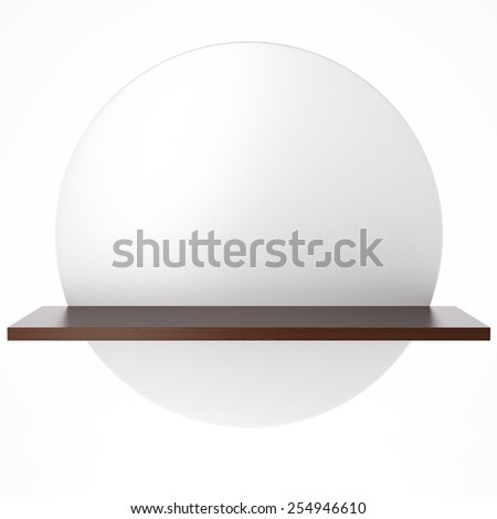 White circle with shelf - stock photo