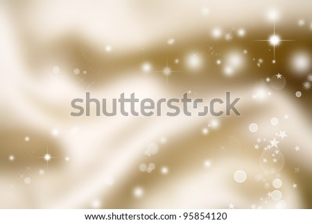 White circles and stars abstract background - stock photo