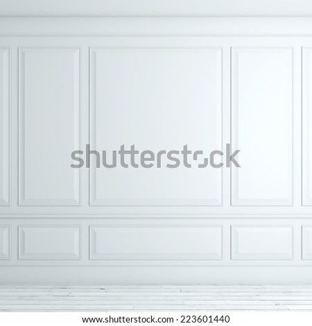 White classical interior  - stock photo