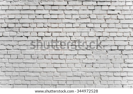White clean brick wall texture background.  - stock photo