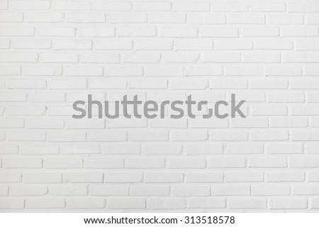White clean clear brick wall texture - stock photo