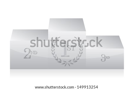 white clean podium illustration design over a white background - stock photo