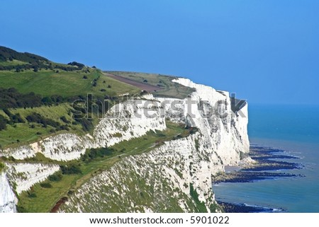 White Cliffs of Dover - stock photo