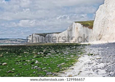 White cliffs on the south east coast of England