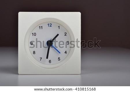 White Clock Alarm Clock - stock photo