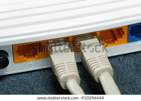white close-up router