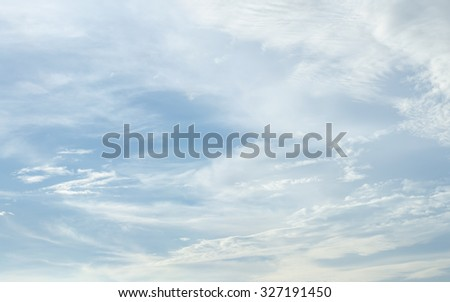 white cloud and blue sky - stock photo