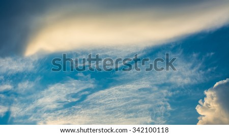 white cloud and blue sky background image .