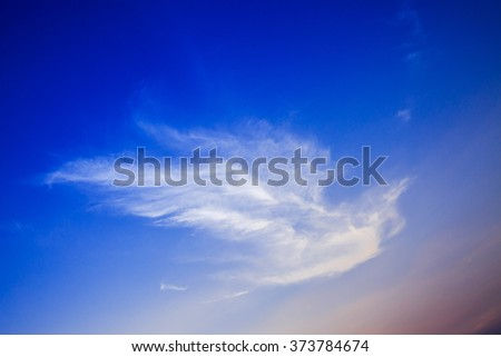 White cloud and colorful sky in early morning - stock photo