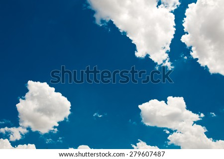 White Cloud background blue sky